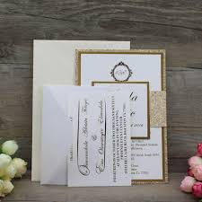 wedding invitations stamps luxury die cut fancy gold glitter wedding invitation with foil
