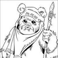 star wars ewok coloring pages coloring pages ideas