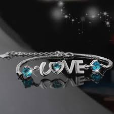 bracelet love you images 925 silver fashion heart shaped quot i love you quot bracelet for woman jpg