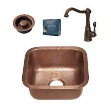 Copper Bar Sinks And Faucets Nsf Certified Kitchen Sinks Kitchen The Home Depot
