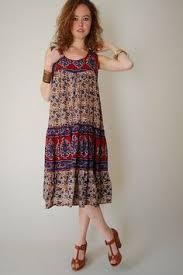 vintage indian sun dress lovely indian cotton pretty block print