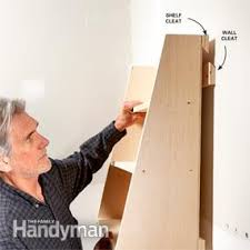 How To Make A Wood Shelving Unit by How To Hang Shelves Family Handyman