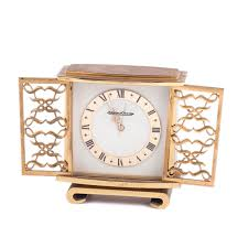 lot 0212 jaeger le coultre desk clock with alarm starting price