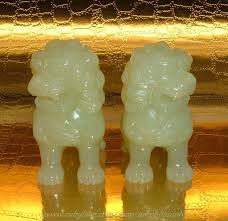 small foo dogs antique carved bowenite jade foo dogs sold ruby