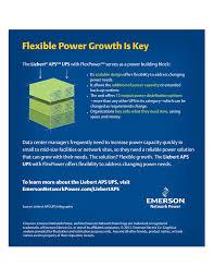 flexible power growth is key liebert aps ups