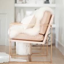 Pink Leather Chair by