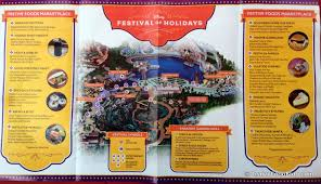 Disney Downtown Map Review Festival Of Holidays Food Booths In Disney California