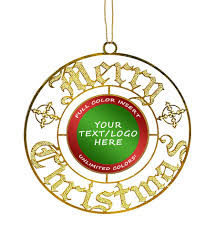 custom insert merry ornament k2 awards and apparel