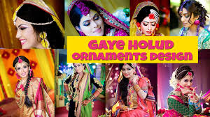 flower ornaments for gaye holud wedding programme