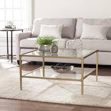 square metal coffee table harper blvd kolder square metal glass open shelf cocktail table