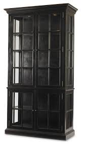 black cabinet with glass doors archive home and monarch mn2005 waltham display cabinet black