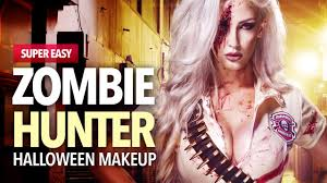 zombie hunter makeup and costume idea youtube