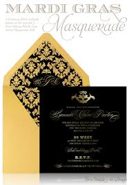 Gold Invitation Card Luxurious Mardi Gras Masquerade Invitation Card Design In Black