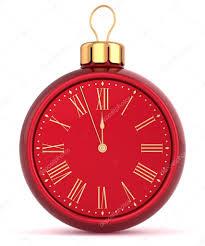 happy new year alarm clock bauble ornament