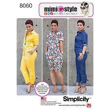 dress pattern john lewis simplicity women s jumpsuit sewing pattern 8060 sewing patterns