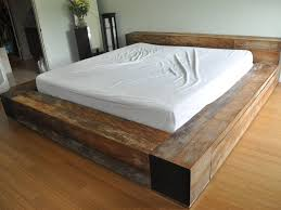 king size bed queen size platform bed frame in mahogany wood