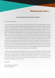 investment proposal letter should be convincing and impressive