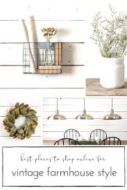 best places to shop authentic vintage farmhouse style home decor