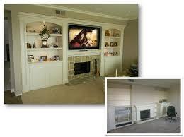 builtin entertainment center fireplace