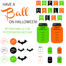 Free Printables For Halloween by Halloween Mason Jar Printables Yesterday On Tuesday