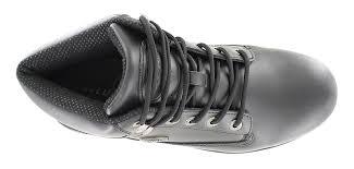 mens lugz zone hi plain toe boot black