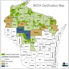 Wisconsin County Maps by Forest Certification Wisconsin County Forest Association