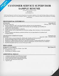 brilliant ideas of sample resume for customer service supervisor
