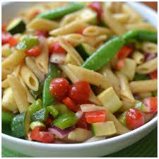 fresh summer vegetable pasta salad small town woman