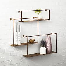 wall storage shelves modern shelving and wall mounted storage cb2