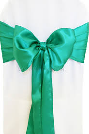 turquoise chair sashes jade satin chair sashes chair bows ties wedding