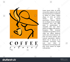vector flat coffee logo sample brand stock vector 326546690