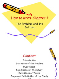 thesis definition of terms how to write chapter 1