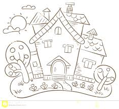 house with garden clipart black and white clipground