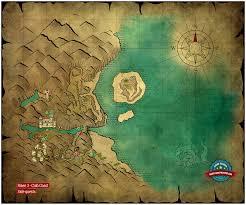 map quests map side quests crab coast risen 3 titan guide