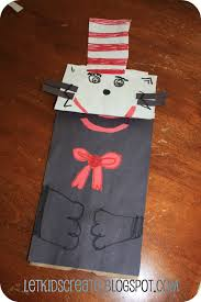 paper bag book report template let create cat in the hat paper bag puppet