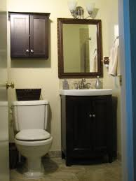 516 Best Bathrooms Images On Bathroom Small Dark Brown Wooden Cabinet With Double Doors Also