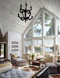 log home interior decorating ideas charming lakefront log cabin with whitewashed interiors log cabins