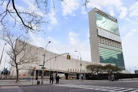 siege des nations unis composé york city de siège des nations unies image éditorial