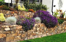 rock wall landscaping how to build retaining wall and interesting