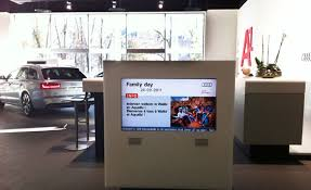 audi digital showroom automotive industry use scala digital signage software