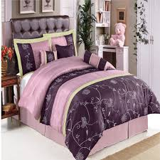Blue And Purple Comforter Sets Queen Size King Size Bed In A Bag Grey Silver Silk Bedding Set Sheets
