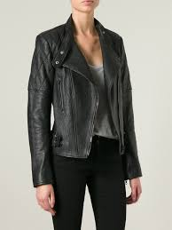 biker jacket sale joseph u0027bubble u0027 biker jacket in black lyst