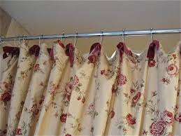 Curtains With Ribbon Ties Waverly Shower Curtains Teawing Co