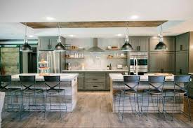 kitchen plans with islands fixer kitchen plans with two islands modern rustic kitchens
