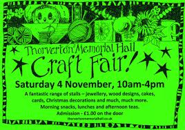 craft fair thorverton memorial hall