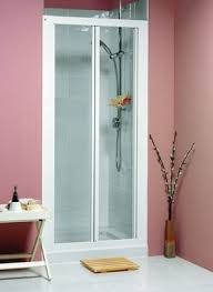 Shower Door 700mm Buy Showers Collage Bi Fold Shower Door 700mm White Cv713w
