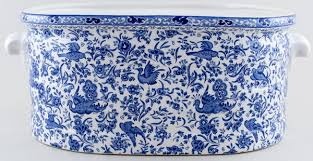 burleigh regal peacock footbath or planter lovers of blue and white