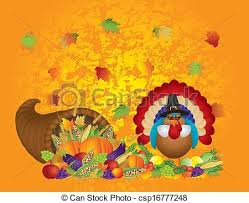 harvest cornucopia thanksgiving day fall bountiful harvest cornucopia with eps