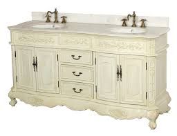 DreamLine Antique White Double Sink Bathroom Vanity DLVBJAW - White vanities for bathrooms