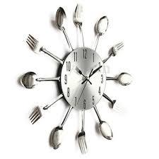couvert de cuisine ustensile cuisine couvert fourchette cuillère horloge murale deco